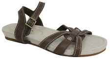 Timberland Earthkeepers Leather Fabric Womens Sandals Brown 8058R U71