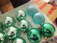 VINTAGE 15 Blown Mercury Glass Christmas Tree Decoration Baubles GDR German