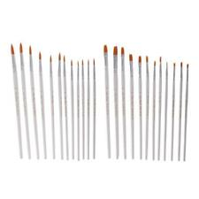12Pcs Art Paint Brushes Set Nylon Hair Wooden Watercolor Painting Supplies