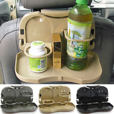 Folding Auto Car Back Seat Table Drink Cup Tray Food Holder Stand Desk NEW Newly