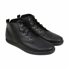 Creative Recreation Vito Mens Black Leather High Top Lace Up Sneakers Shoes