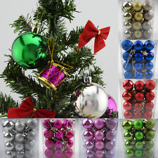 24Pcs Glitter Christmas Balls Baubles Xmas Tree Ornament Hanging Decoration UP