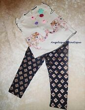 MONSOON BABY GIRLS MILA ELEPHANT MULTI COLOURED TOP & LEGGINGS SET AGE 0-3 YEARS