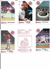 ST. LOUIS CARDINALS POLICE SAFETY SETS--8 DIFFERANT SETS