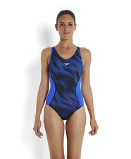 SPEEDO FIT WOMENS ALLOVER SPLICE BUST SUPPORT SWIMSUIT/SWIMMING COSTUME 6W/885