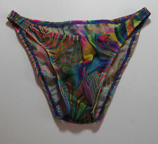 Mens Sheer Swimsuit Bikini Rise Brief Rio Half or Thong s M L or xl USA