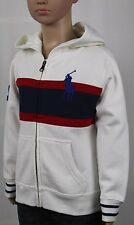 POLO Ralph Lauren White Red Navy Blue Big Pony Hoodie NWT $60