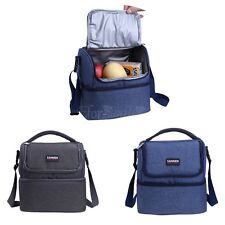 Portable Insulated Thermal Cooler Lunch Box Tote Picnic Storage Bag Double Dome