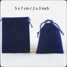 Royal Blue Velvet Drawstring Square Jewellery Packaging Pouches Gift Bags 5x7cm