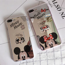 Mirror Sparkel Minnie Mickey Mouse Soft Case Cover for iPhone 7 7 Plus 6 6S 5S