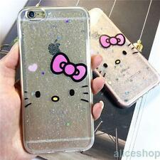 Cute Bling Glitter Hello Kitty Soft Candy Case Cover for iPhone 7 7 Plus 6 6S