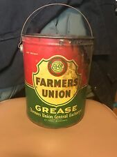 VINTAGE CO-OP FARMERS UNION GAS OIL ADVERTISING GREASE CAN ST PAUL, MINN 10 lbs