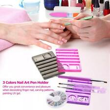 Nail Art Brush Holder Pen Display Stand Tools Acrylic UV Gel Rest Durable Q4M0
