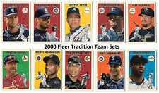 2000 Fleer Tradition Baseball Team Sets ** Pick your Team **