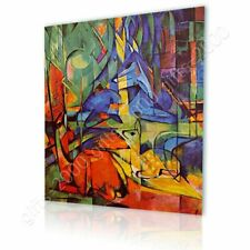 Alonline Art - CANVAS (Rolled) Deer In The Forest 2 Franz Marc Oil Paints