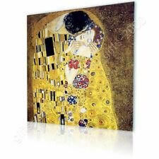 Alonline Art - CANVAS (Rolled) The Kiss Gustav Klimt Oil Paints Artwork