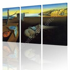 CANVAS (Rolled) Melting Clock The Persistence Of Memory Salvador Dali 3 Panels