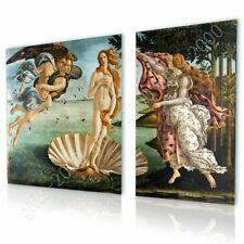 Alonline Art - CANVAS (Rolled) The Birth Of Venus Sandro Botticelli 2 Panels