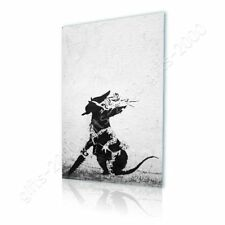 Alonline Art - CANVAS (Rolled) Rat With Dollar Eyes And Jigsaw Banksy Paintings