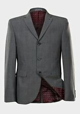 BNWT Slim Fit Grey Check Mod/Retro Style Three Button Suit Jacket (Check Sizing)