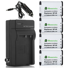 NP-90 Battery + Charger For Casio Exilim EX-FH100 EX-H10 EX-H20G EX-H15 Camera