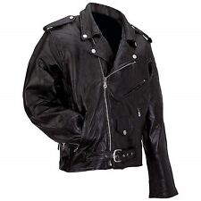 Man's Diamond Plate™ Rock Design Genuine Buffalo Leather Motorcycle Jacket