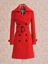 Double breasted woolblend Winter Slim OURWEAR trench Coat plus1x-10x (16-52)G437