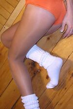 TAMARA PANTYHOSE NFL Hooters Hosiery *TOELESS* OPEN TOE LIGHT SUNTAN Size C