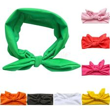 Kids Girls Baby Headband Toddler Bow Plain Rabbit Hair Band Accessories Headwear