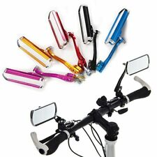 Aluminum Bicycle Bike Handlebar Rear View Cycling Rearview Mirror Rectangle Back