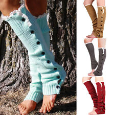 Lace Leg Warmers Boot Socks Girls Womens Cuff Crochet Knit Toppers Knee Legging