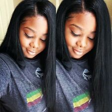 Silky Straight Full Lace Wig 100% Remy Human Hair Lace Front Wigs With Baby Hair