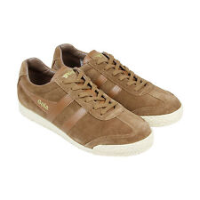 Gola Harrier Suede Mens Brown Suede Lace Up Trainers Shoes