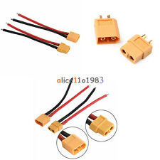 XT60 Female Male Connector W/ Housing 10CM /100mm Silicon Wire 14AWG Cable