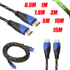 Braided HDMI Cable V1.4 AV HD 3D for PS3 Xbox HDTV Meters 1080P DF 0.5~15M lot