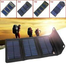 Folding Solar Power Charger Panel Bag USB Output for Mobile Phone Powerbank New