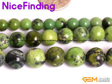 """Round Green African Turquoise Gemstone Loose Beads For Jewelry Making Strand 15"""""""