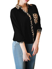 Ladies Long Sleeves Casual Button Closure Autumn Trendy Blouse