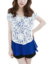 Ladies Chic Batwing Sleeve Round Neck Tunic Top Blouse