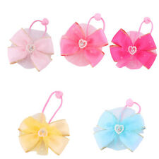 Girl Bowknot Shaped Meshy Ponytail Holder Hairstyle Hair Rope Tie 2 PCS