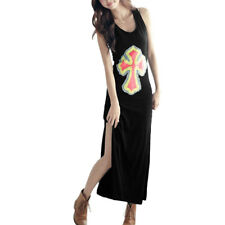 Ladies New Fashion Scoop Neck Sleeveless Full Length Summer Dress