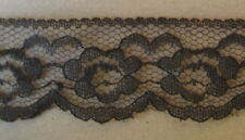 CRAFT-SEWING-LACE 4mtrs x 30mm Raschel Lace (colour variations listed)