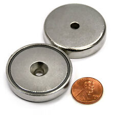"""CMS Magnetics® 112 lb Holding Power Neodymium Cup Magnet 1.57"""" w/#10 Countersink"""