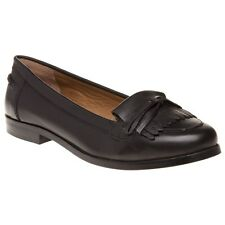 New Womens SOLE Black Margo Leather Shoes Flats Slip On