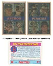 1987 SportFlics Team Preview Baseball Cards ** Pick Your Team **