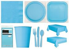 POWDER BLUE Party TABLEWARE - Light Baby Pale Napkins Plates Balloons Supplies