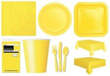 SOFT YELLOW TABLEWARE - Plates/Cups/Napkins/Tablecovers/Bags/Balloons