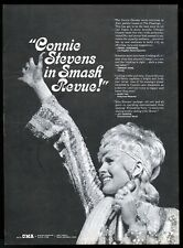 1970 Connie Stevens photo concert booking trade print ad