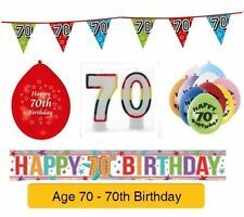 AGE 70 - Happy 70th Birthday Party Balloons, Banners & Decorations