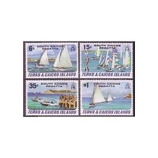 Turks & Caicos 463-466,MNH.Michel 513-516. South Caicos regatta 1951.Yachts.